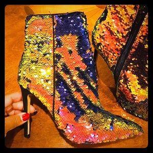 Aldo sequins ankle boots.